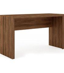 mesa escritã³rio nogal me4135 tecno mobili videira marrom - marrom - dafiti