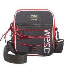 wesc men's bungee crossbody bag