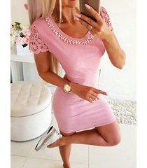 hueco con cuentas hecho a mano diseño mini vestido