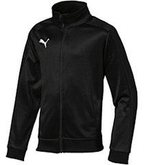 liga casuals voetbaltrainingsjack, wit/zwart, maat 128   puma