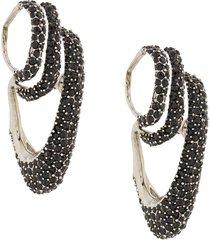 alexander mcqueen triple ear cuff earrings - black