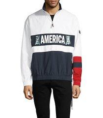 america graphic colorblock jacket
