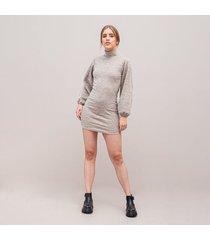 vestido ajustado corto manga larga sana