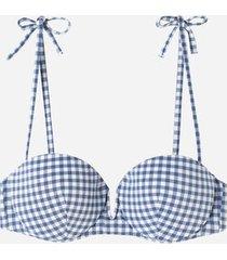 calzedonia padded push up swimsuit positano woman blue size 4