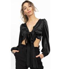 blusa black panther clásica negro kimonada