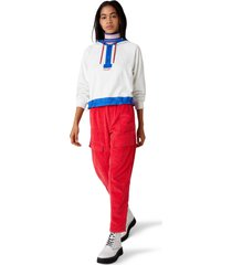 women's wrangler colorblock half zip hoodie, size medium - white