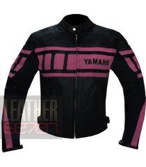 yamaha 0120 pink leather motorcycle motorbike  stylish cowhide safety  jacket