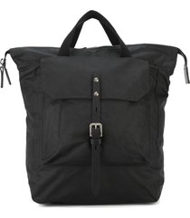 ally capellino buckle front backpack - black