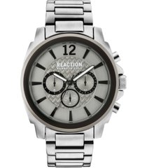 kenneth cole reaction men's chronograph stainless steel bracelet watch 48mm 10031947