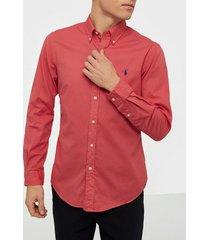 polo ralph lauren long sleeve sport shirt skjortor red
