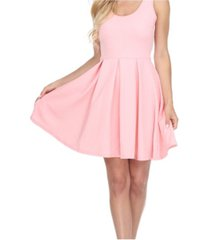 white mark crystal fit and flare dress