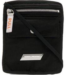 heron preston flap pocket pouch - black