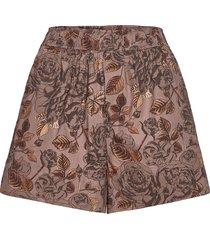 printed cotton poplin shorts flowy shorts/casual shorts ganni