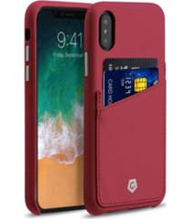 cobble pro premium leather case with id credit card slot for apple iphone xs, x