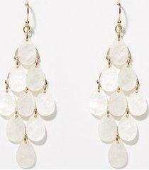 loft shell charm chandelier earrings