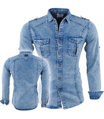 bravo jeans bravojeans heren overhemd regular fit -