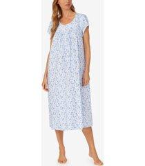 eileen west floral-print jersey cotton ballet nightgown