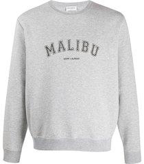 malibu crew-neck sweatshirt grey