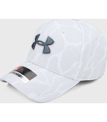 gorra blanco-gris under armour printed blitzing 3.0