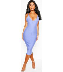 petite bandage v-neck bodycon dress, lilac