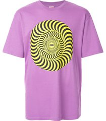 supreme spitfire swirl t-shirt - purple