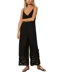 o'neill juniors' mateo ladder-lace jumpsuit