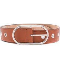 acne studios oval buckle belt - brown