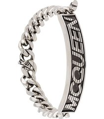 alexander mcqueen identity logo bracelet - metallic