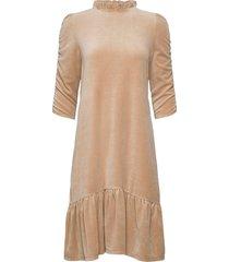 marion dress knälång klänning beige odd molly