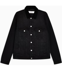 mens black corduroy collar jacket