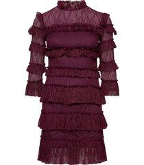 carmine mini dress kort klänning lila by malina