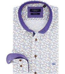 overhemd giordano regular fit gekleurd dessin