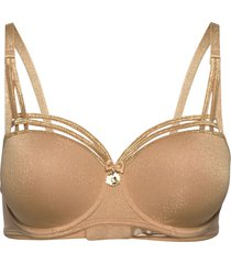 md dame de paris sandy brown balc. bra lingerie bras & tops padded bras brun marlies dekkers