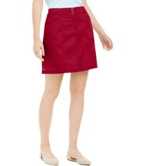 karen scott petite pull-on skort, created for macy's