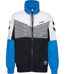 hmlcarl zip jacket sweat-shirt trui blauw hummel hive