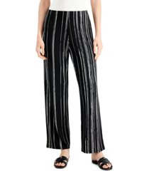 alfani striped wide-leg pants, created for macy's