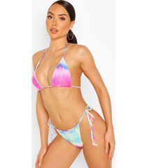 mix & match tie dye rib triangle bikini top