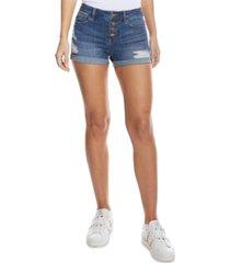 dollhouse juniors' ripped high rise denim shorts