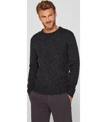 sweater jaspeado con lana negro esprit
