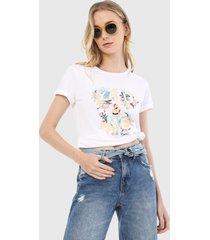 camiseta blanco-multicolor esprit