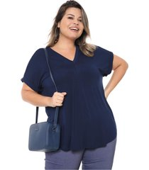 t-shirt melinde  god㪠marinho - azul marinho - feminino - dafiti