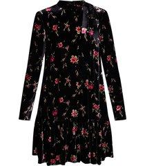 velvet dress with standing collar