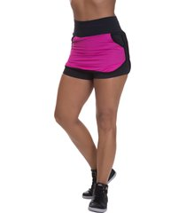 shorts saia mis blessed premium com dry fit rosa - rosa - feminino - poliamida - dafiti