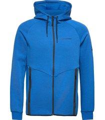 m tech zip hood fells view hoodie trui blauw peak performance