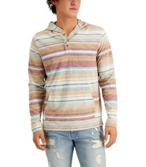 sun + stone men's yarn-dyed blanket striped hoodie, created for macy's