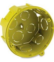 caixa de luz em polipropileno 4x4 octogonal amarela