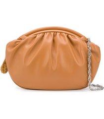 rodo zipped oversized clutch - marrom