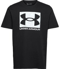 ua abc camo boxed logo ss t-shirts short-sleeved svart under armour