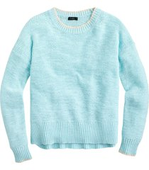 women's j.crew tipped beach sweater, size large - blue