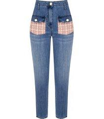 jeans con tasche in tweed - cfc0102214003b476